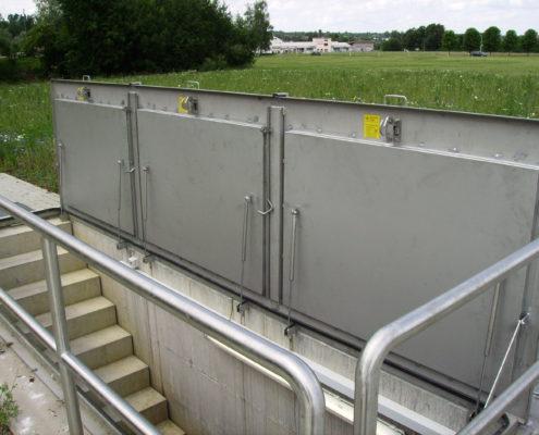 Schachtabdeckung tagwasserdicht, 3 teilig