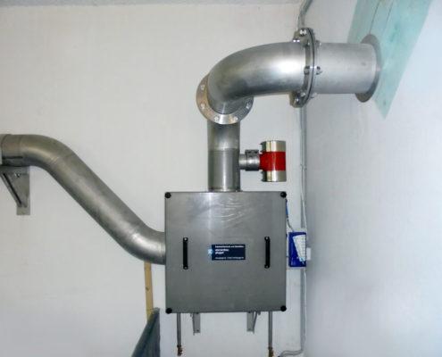 Luftfilteranlage aus Edelstahl mit Druckwächter