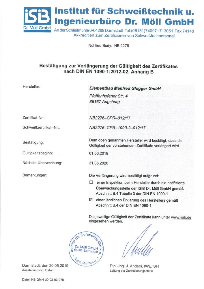 Elmentbau Glogger HWK Ausbildungsbetrieb 2018